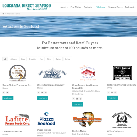 With one click, buyers can connect with seafood suppliers along the coast of Louisiana.