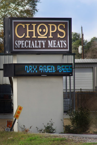 Chops Specialty Meats sign