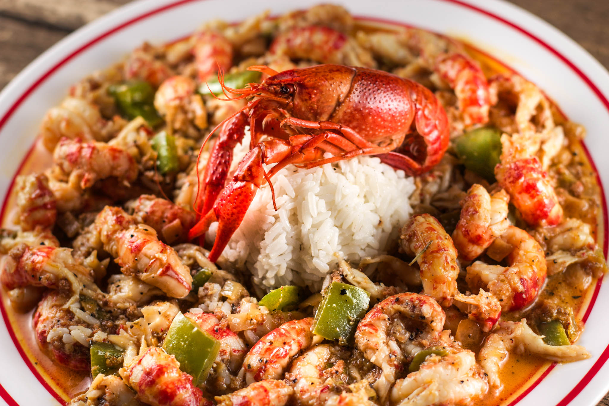 Crawfish touff e cooked the old fashioned way is a for Authentic cajun cuisine