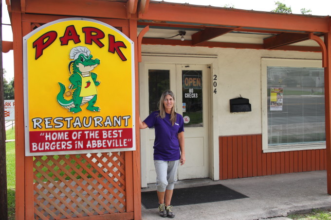 Teresa Lawson welcomes you to her Abbeville eatery.