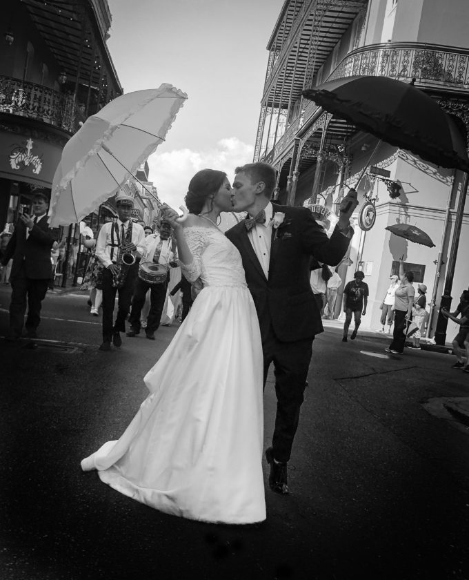 Wedding Second Line B&W