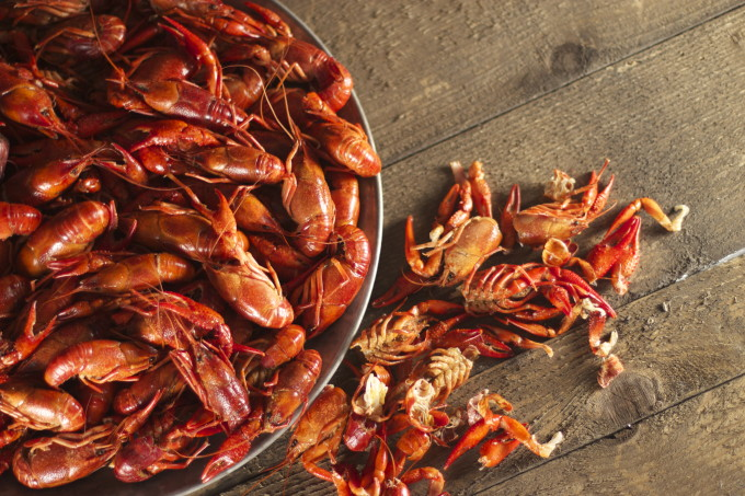 Boiled Crawfish are one of the classic Cajun recipe ingredients of Cajun cooking.