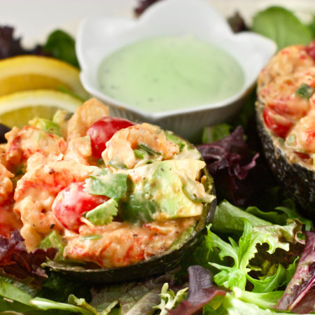 Crawfish Stuffed Avocado