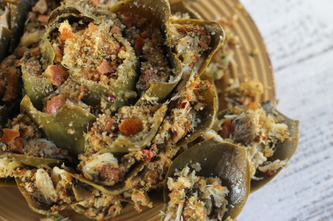 Louisiana Crabmeat Stuffed Artichoke Recipe - Lafayette, Louisiana