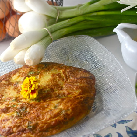 Farmhouse Frittata with Lavender Cream