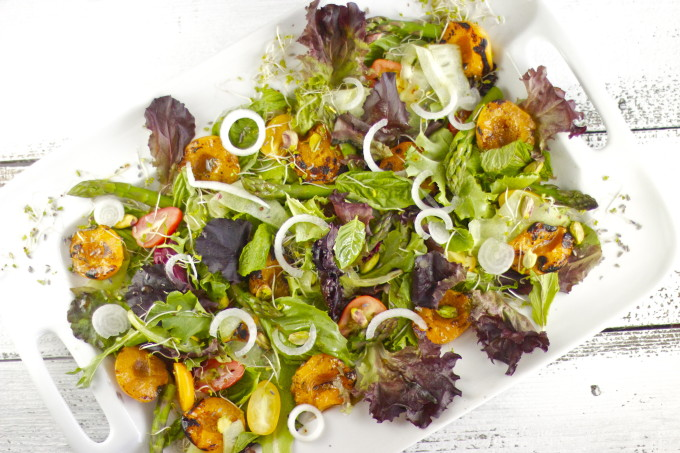 Grilled Apricot and Herb Salad Recipe - Lafayette, Louisiana