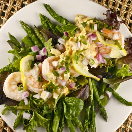 Asparagus and Gulf shrimp is one of the classic Cajun recipes and highlights Cajun cooking traditions.
