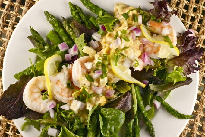 Shrimp and Asparagus Salad is a classic Cajun recipe.