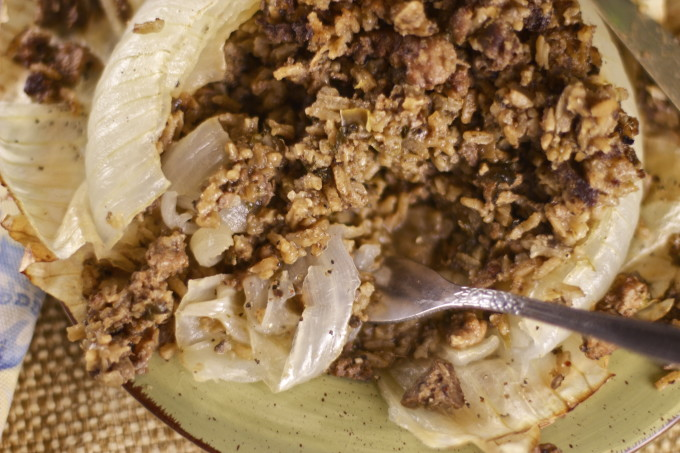 Dirty Rice in a Stuffed Onion is a Cajun recipe.