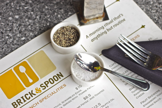 Brick and Spoon menu