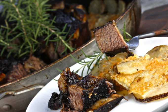 Short ribs in a Cajun recipe.