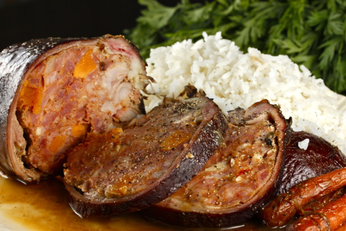 Smoked ponce, rice and gravy served up family-style is a popular Cajun recipe.
