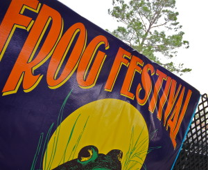Frog Festival is a Cajun cooking event featuring many Cajun recipes for frog.