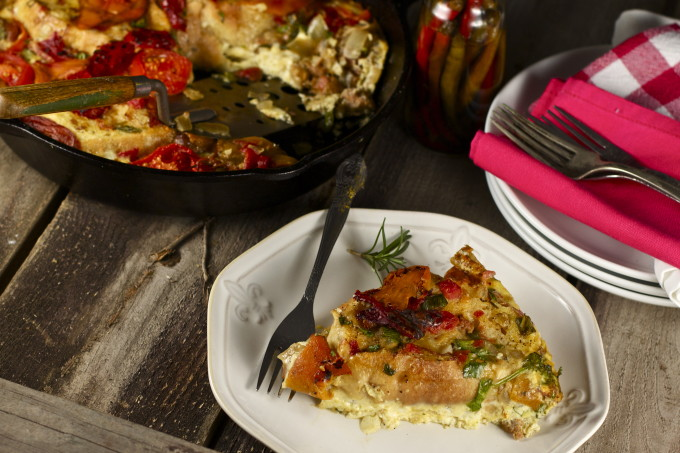 Sausage and Egg Pie - A slice of Cajun cooking at its best.