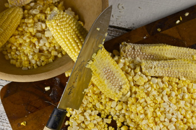 Fresh corn off the cob for my Griddled Corn Panini