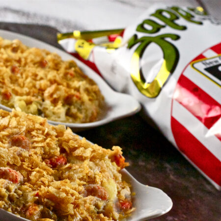 Zapp your taste buds with this Cajun Crawtator Casserole