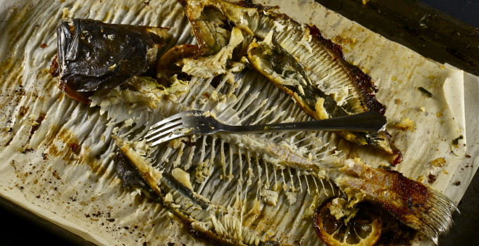 Flounder bones are all that's left of this Cajun recipe.