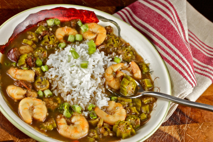 Cajun Creole Shrimp and Okra Gumbo