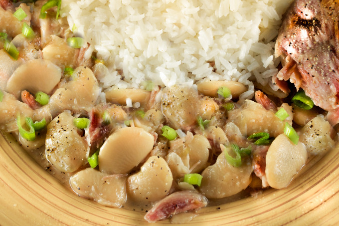 White Beans Supreme featuring Beans and Rice are a Cajun recipe seen often in Cajun cooking.