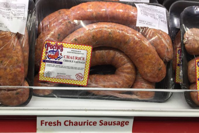 Poche's near Breaux Bridge always has freshly made chaurice available.