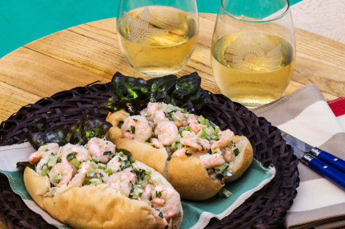 Louisiana Shrimp Roll is a Cajun recipe version of a New England favorite.