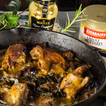 French Mustard-Braised Rabbit
