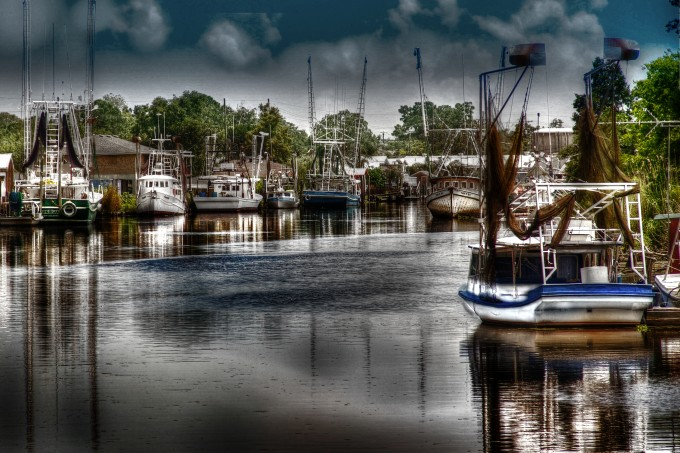 Dulac Shrimp Boats