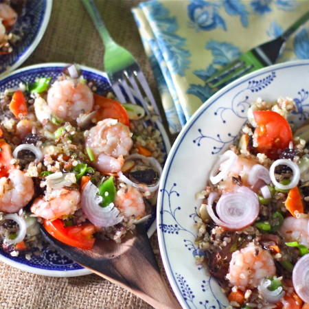Quinoa Salad with Louisiana Shrimp