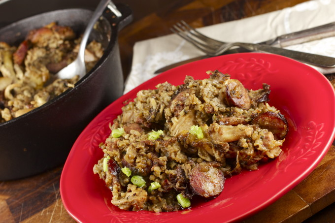 Cajun Pork Jambalaya is a Louisiana recipe.