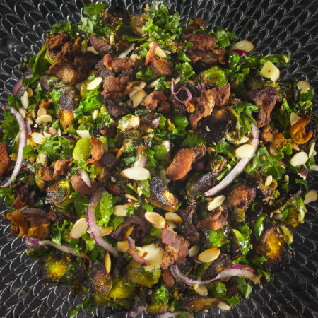 Blackened Brussels & Kale Salad