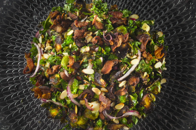 Blackened Brussels Salad in a Cajun recipe.