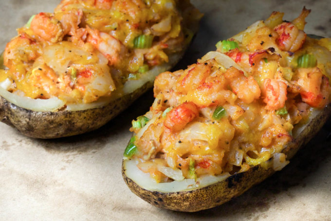 Crawfish stuffed and twice baked, this Cajun recipe for Crawfish Baked Potato will change the way you look at baked potatoes. (All photos credit: George Graham)
