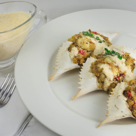 Stuffed Crab with Absinthe Cream