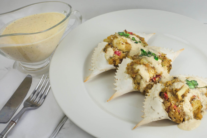 Stuffed Crab is a common Cajun recipe.