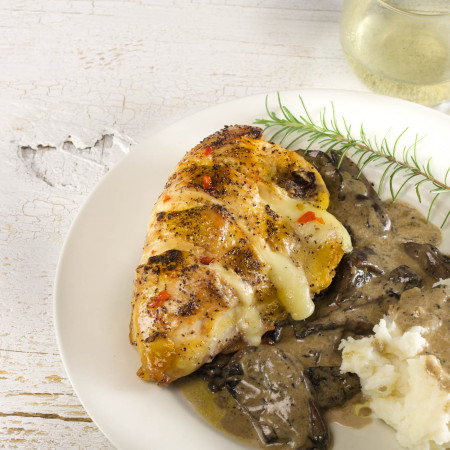 Stuffed Chicken with Mushroom Madeira