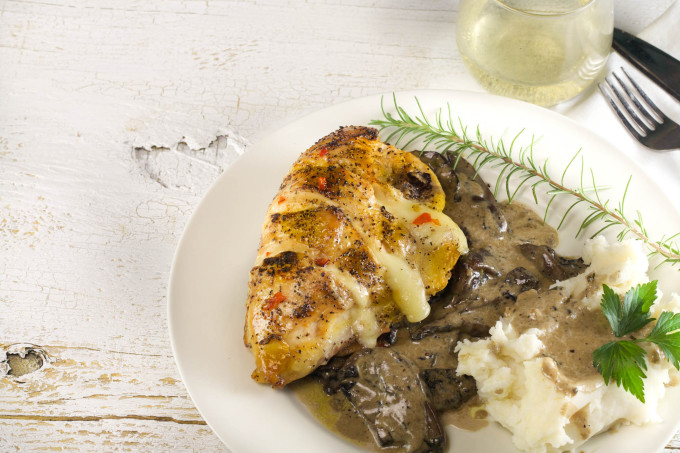 Stuffed Chicken with Mushroom Madeira is a delicious Cajun recipe.