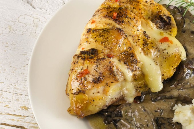 Stuffed Chicken with Mushroom Madeira is a Cajun recipe version.