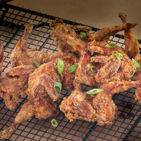 Skillet-Fried Quail with Honey Heat
