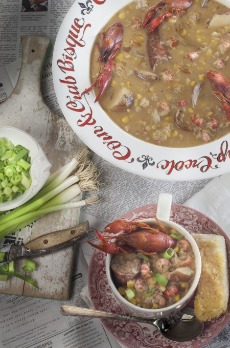Crawfish Boil Chowder: The perfect chow-down chowder is a tasty Cajun recipe.