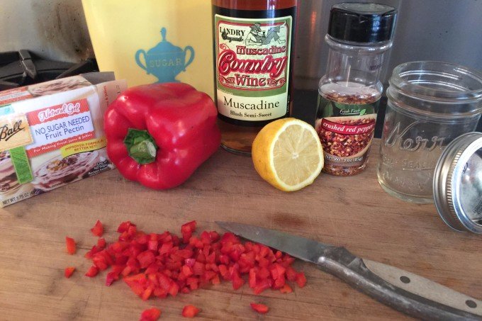Muscadine wine is the key to my flavorful pepper jelly--a familiar Cajun recipe.