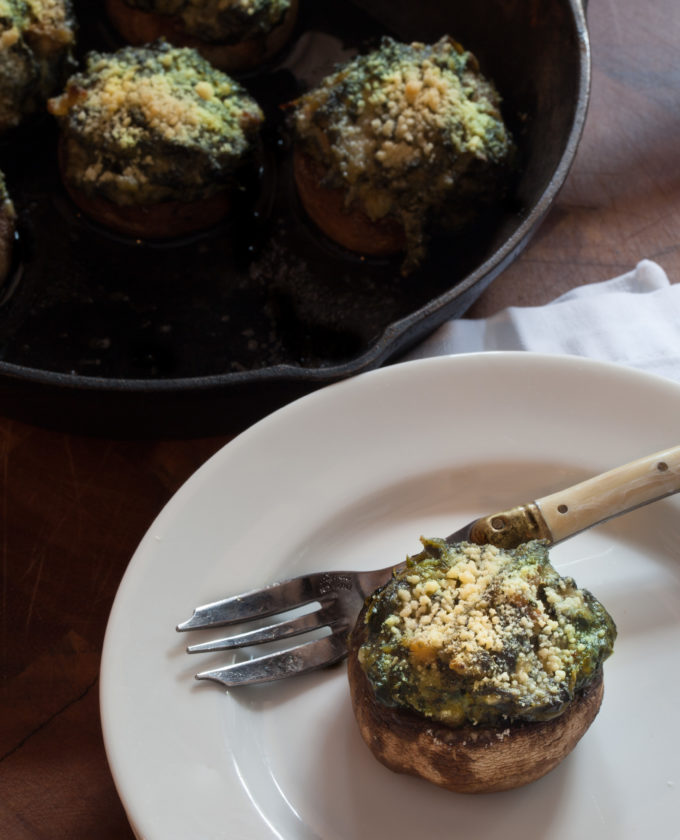 A spicy bite of Cajun flavor in an easy Oyster-Stuffed Mushrooms recipe.