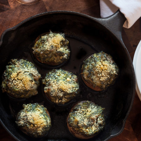 Oyster-Stuffed Mushrooms