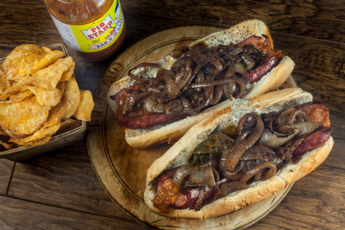 Smoked sausage po'boy perfection in this Cajun recipe.