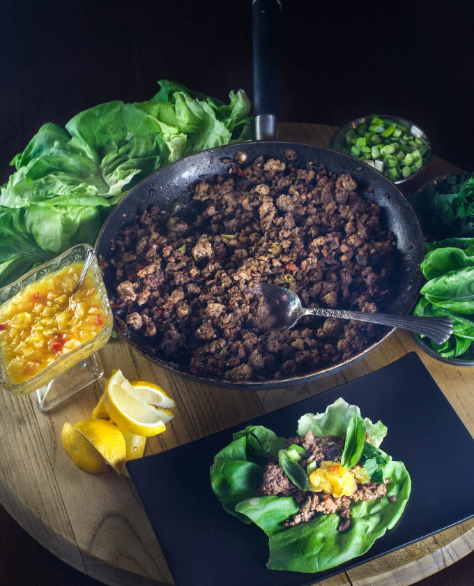 Cajun-Spiced Lettuce Cups is a cross cultural Cajun recipe.