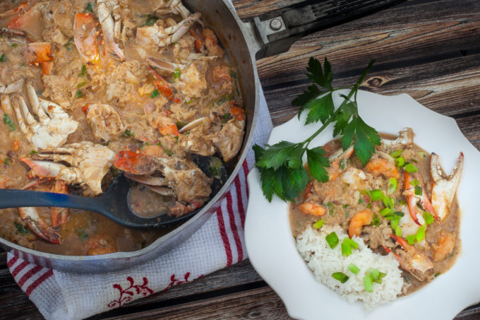 Crab Étouffée made from fresh Vermilion Bay crabs is a timeless recipe from the Louisiana coast. (All photos credit: George Graham)