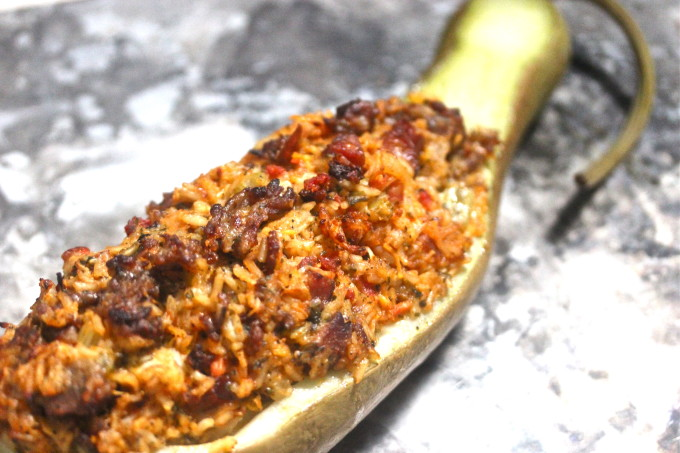 Stuffed Cucuzza Squash is a Cajun recipe ingredient.