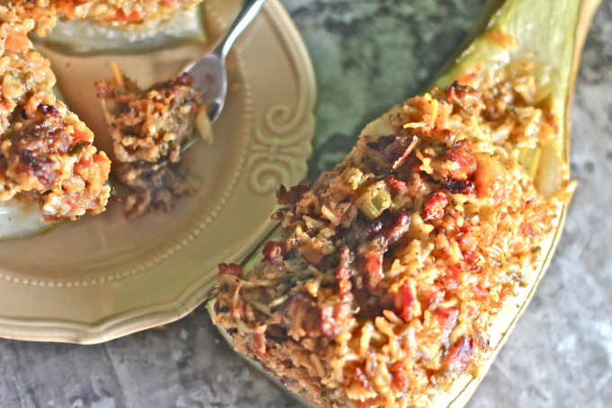 Stuffed Goo-Gootz in a classic Cajun recipe.