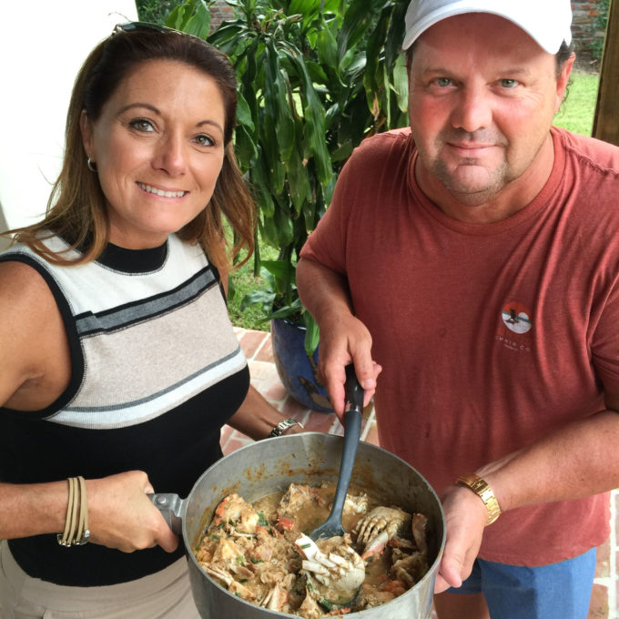 Walter Hidalgo and his wife Danielle serve up their famous crab étouffée.