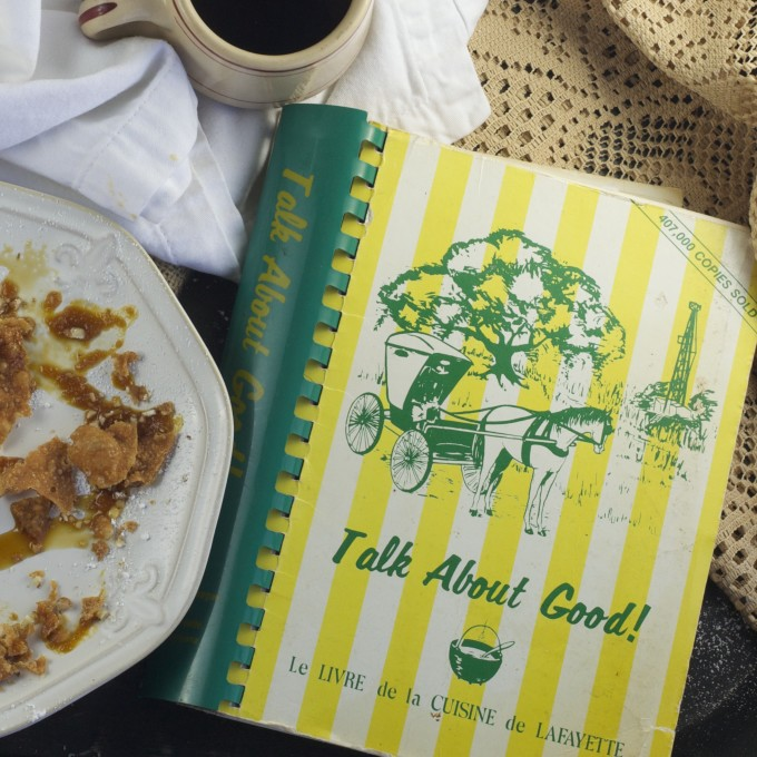 Talk About Good cookbook is a Cajun recipe treasure trove featuring Pig's Ear Pastry and other Cajun cooking.