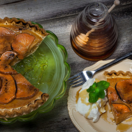 With a hint of bourbon and a brûlée topping, this sweet potato pie will be a hit on your Thanksgiving table.  (All photos credit: George Graham)